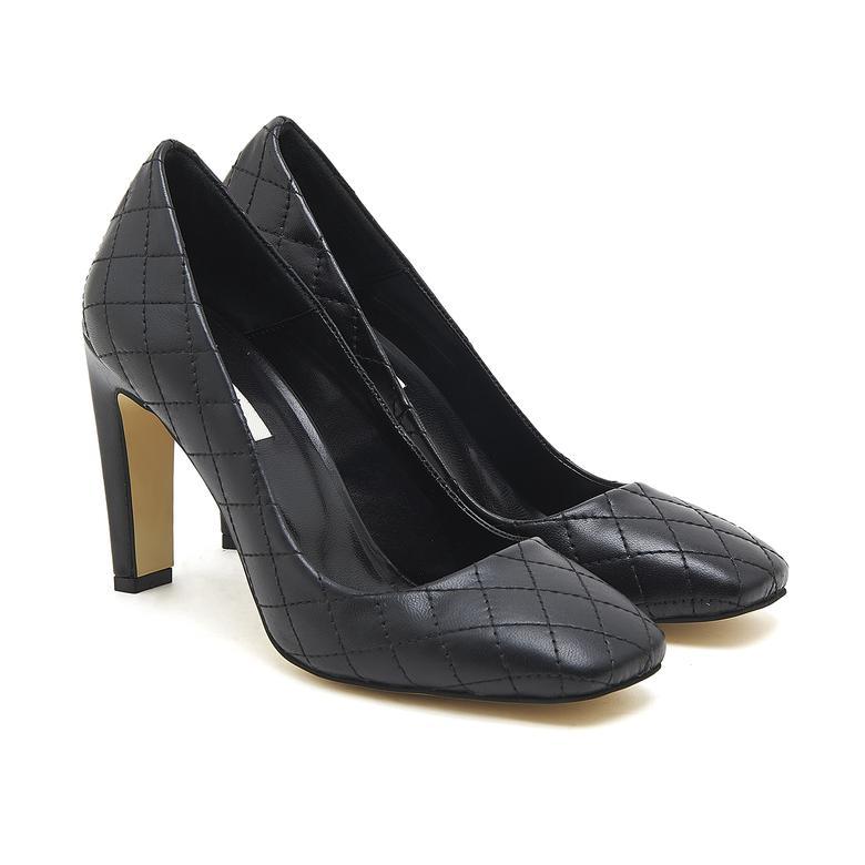 Belda Kadın Kapitone Deri Topuklu Ayakkabı 2010046688001