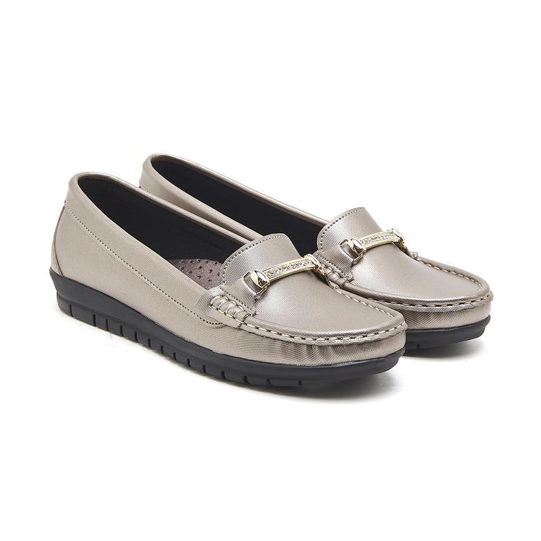 Gümüş Ema Kadın Loafer Günlük Ayakkabı 2010046649009