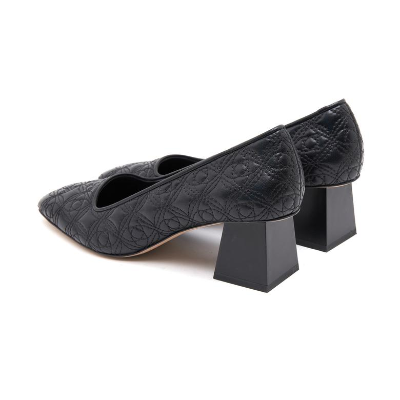 Lena Kadın Kapitone Deri Klasik Ayakkabı 2010046682001