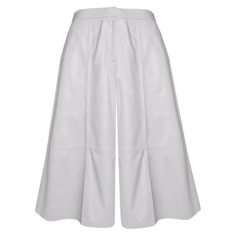 Adele Kadın Deri Bermuda Pantolon 1010030446010