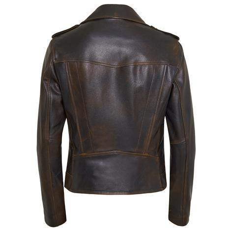 Benvolio Kadın Vintage Deri Ceket 1010031373003