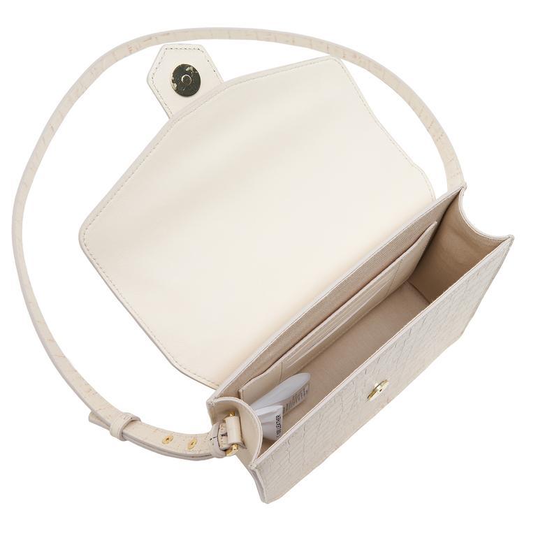 Beyaz Diode Kadın Deri Omuz Askılı Çanta 1010031333001
