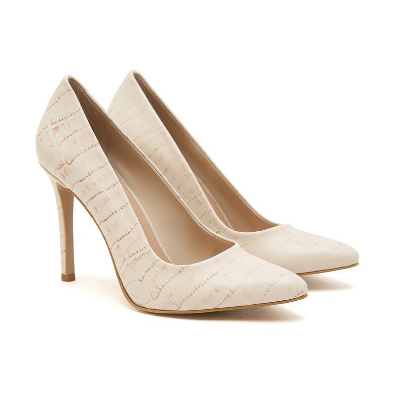 Beyaz Berta Kadın Deri Stiletto 2010046990008