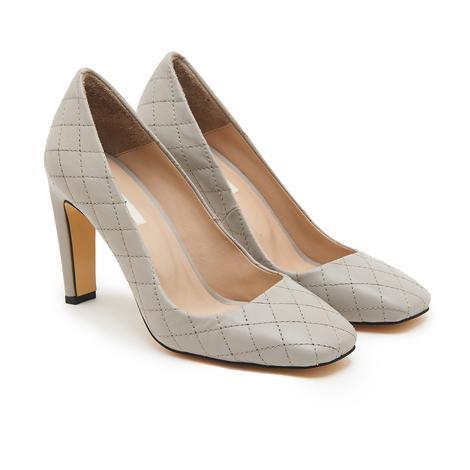 Belda Kadın Kapitone Deri Topuklu Ayakkabı 2010046688006