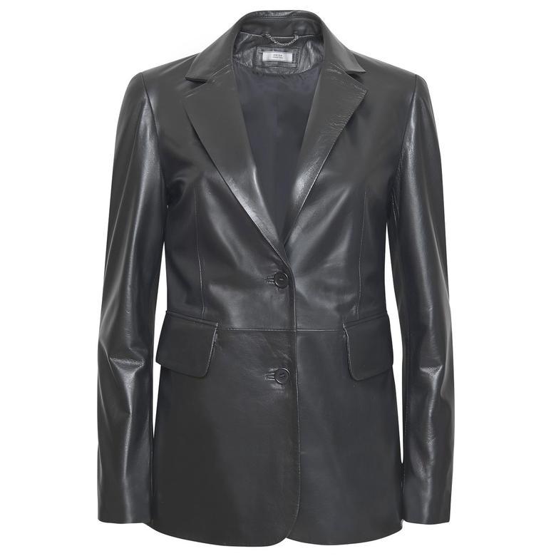 Karina Kadın Deri Blazer Ceket 1010030436004