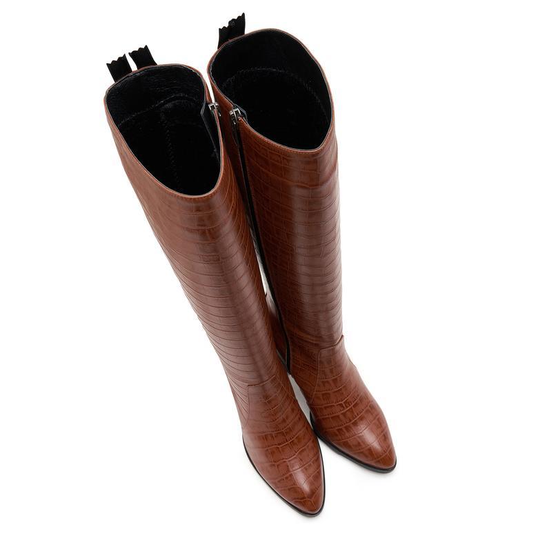 Sattel Kadın Deri Çizme 2010046963008