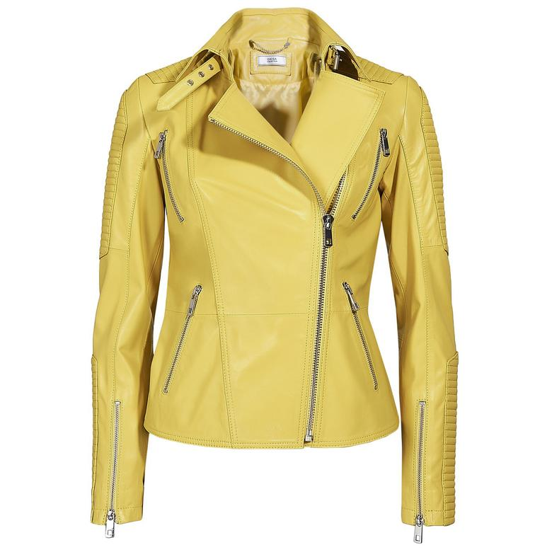 Cristina Kadın Deri Biker Ceket 1010028622005
