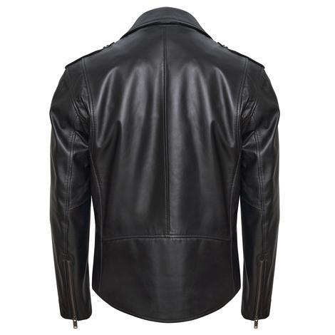 Afro Erkek Deri Biker Ceket 1010031329003