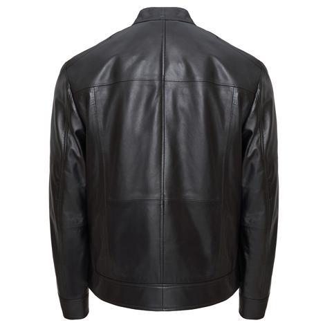 Siyah Lanzo Erkek Deri Ceket 1010031523004