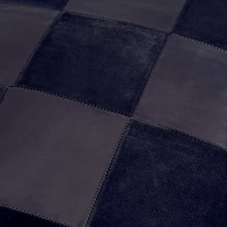 Siyah Kare Deri/Süet Yastık Kılıfı 1010031821001