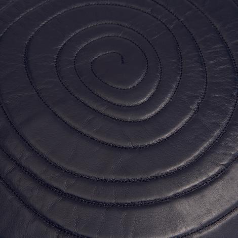 Spiral Desenli Deri Kırlent Kılıfı 1010031808001