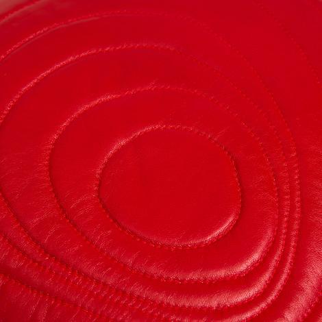 Spiral Desenli Deri Kırlent Kılıfı 1010031808002