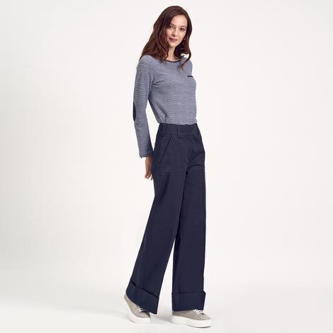 Lacivert Bol Paça Kadın Pantolon 1010015923008
