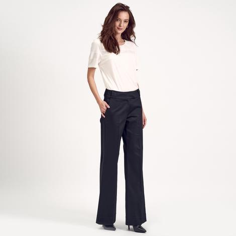 Siyah Bol Paça Kadın Pantolon 1010004797001
