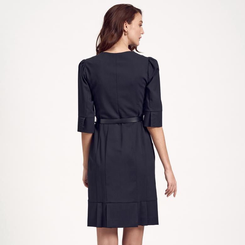 Deri Kemerli Kadın Elbise 1010007197002