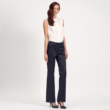 Siyah Boru Paça Kadın Pantolon 1010004859011
