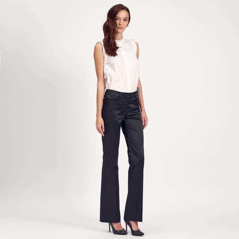 Siyah Boru Paça Kadın Pantolon 1010004859009