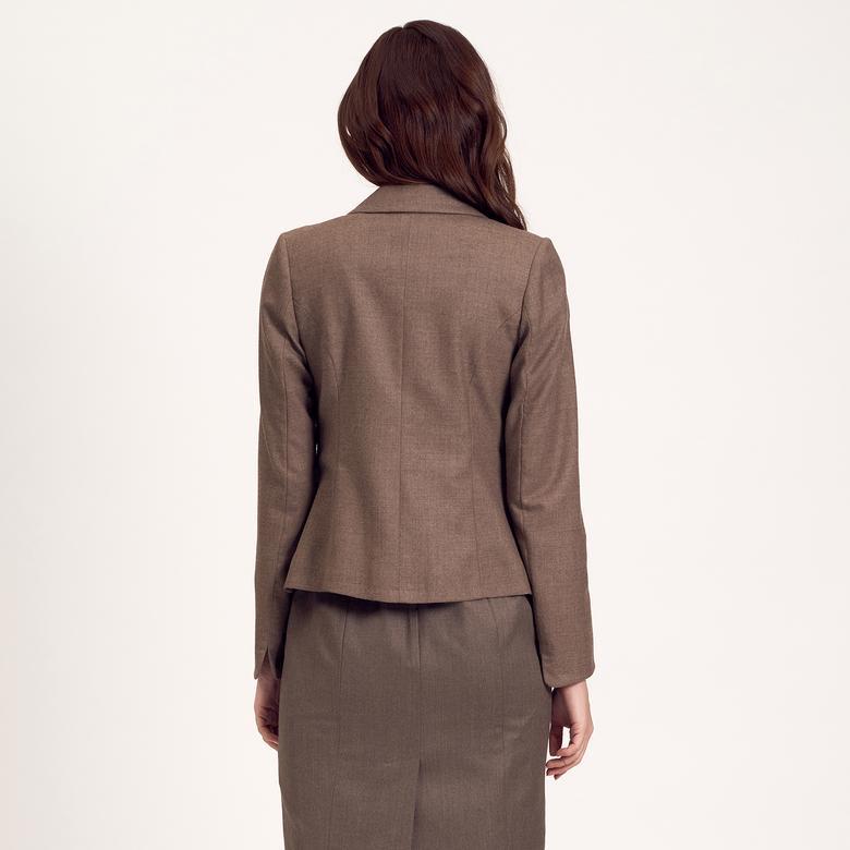 Punto Dikişli Kısa Kadın Ceket 1010004896003