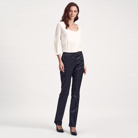 Siyah Klasik Kadın Pantolon 1010007387001