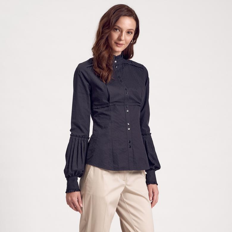 Fırfırlı Kadın Gömlek 1010007333005