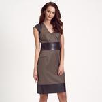 Deri Kombinli Kadın Elbise 1010007223007