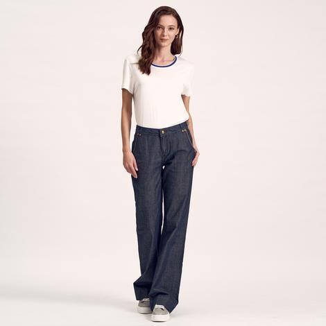 Lacivert Kadın Denim Pantolon 2010000996003