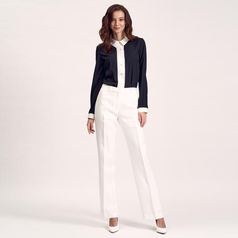 Beyaz Klasik Kadın Pantolon 1010007397002