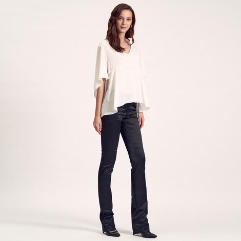 Beyaz Rolande Kadın Bluz 1010023757007