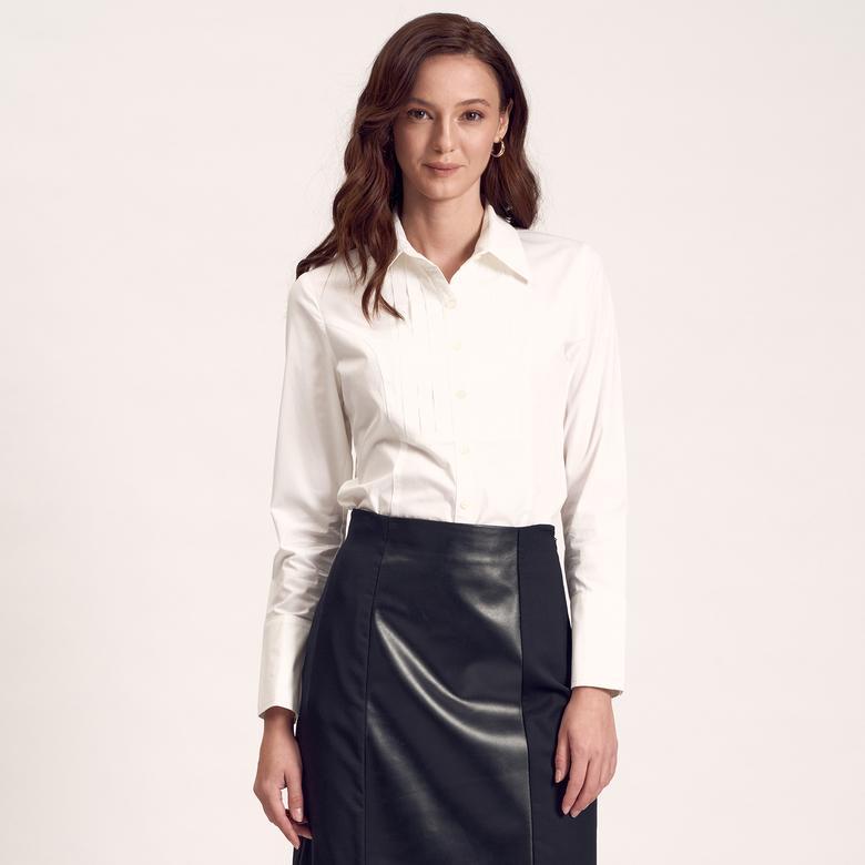 Beyaz Kadın Gömlek 1010004907002
