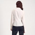 Beyaz Kadın Klasik Gömlek 2010000993001