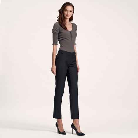 Siyah Dar Paça Kadın Pantolon 1010017001004