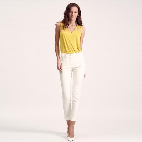 Beyaz Kadın Slim Pantolon 1010020583010