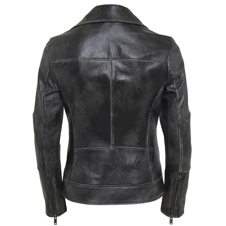 Tazia Kadın Deri Biker Ceket 1010028976009