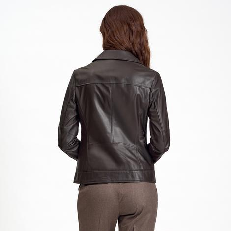 Beatrix Kadın Deri Biker Ceket 1010031359005