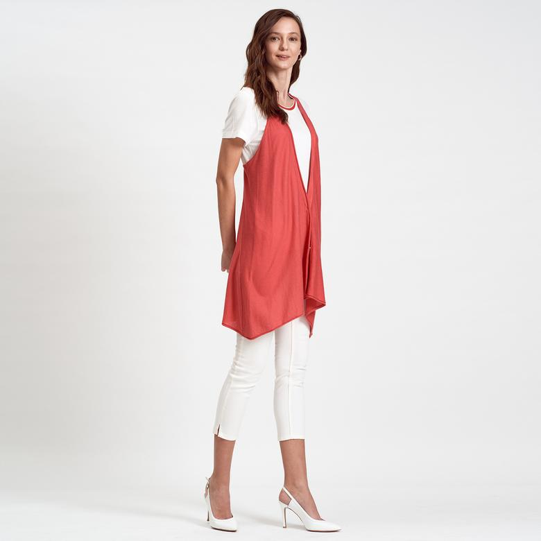DKNY Jeans Asimetrik Kadın Yelek 2300002262012