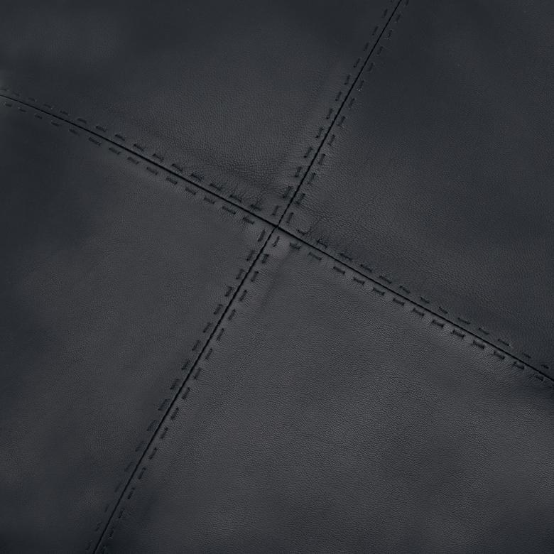 Siyah Kare Deri Yastık Kılıfı 1010031927001