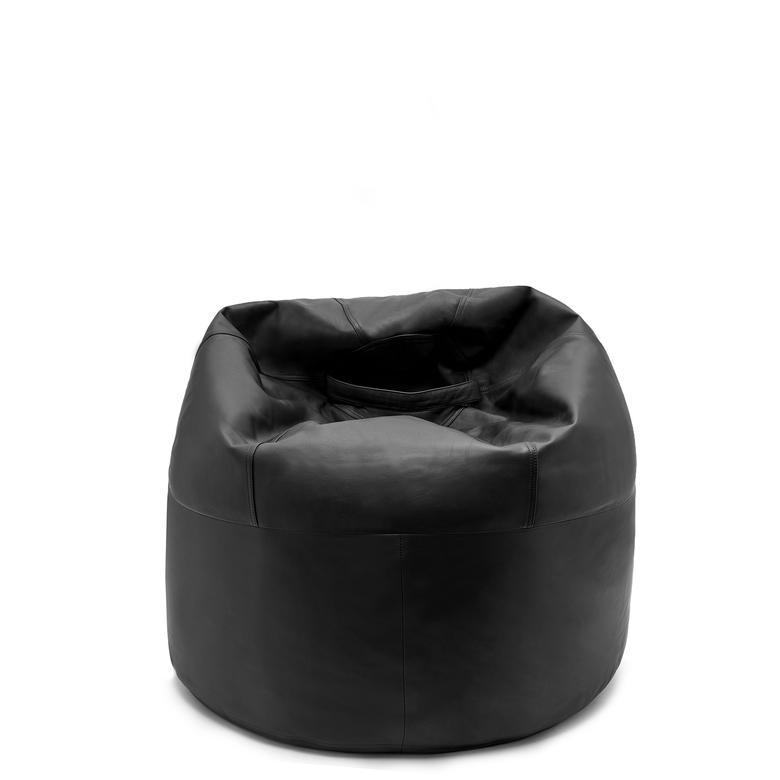 Siyah Büyük Deri Puf 1010031946001