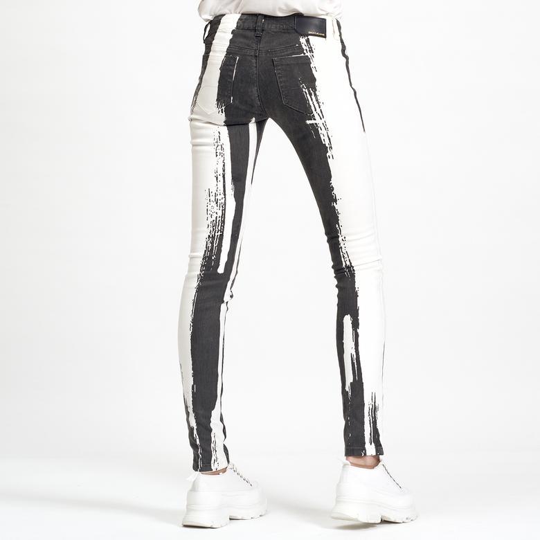 Siyah Dar Jean Kadın Pantolon 2300006823006