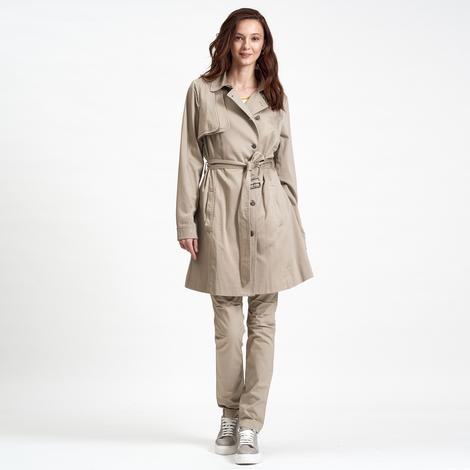 Bej DKNY Jeans Kadın Koton Trençkot 2300006556001