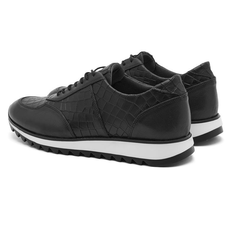 Siyah Erig Erkek Deri Spor Ayakkabı 2010047200001