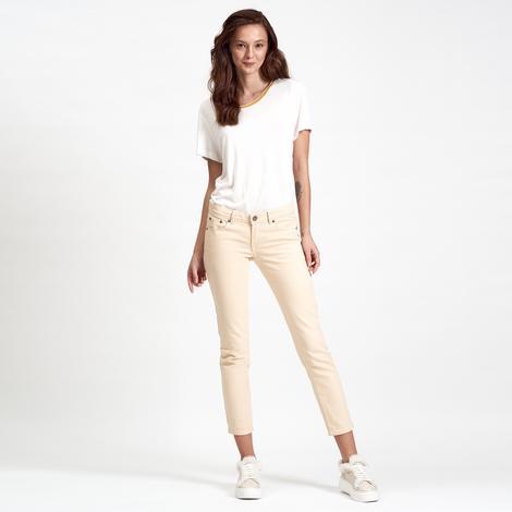 Bej DKNY Jeans Kadın Crop Pantolon 2300002152006