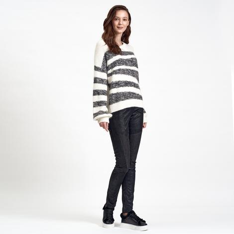 DKNY Jeans Çizgili Kadın Kazak 2300006819003