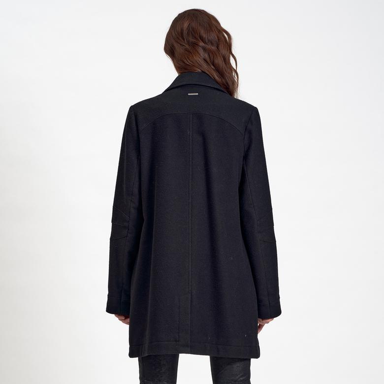 DKNY Jeans Kadın Yün Kaban 2300006978004