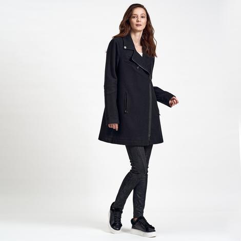 Siyah DKNY Jeans Kadın Yün Kaban 2300006978001