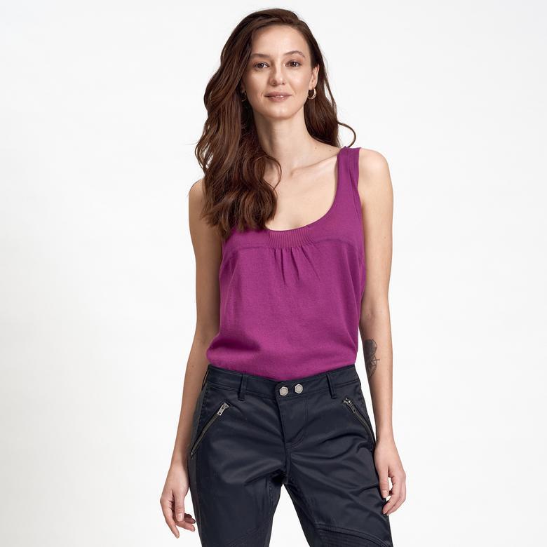 DKNY Jeans Pileli Kadın Bluz 2300000585009