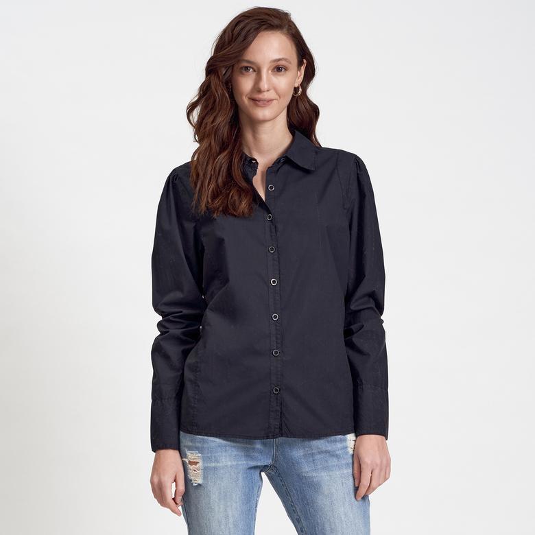 DKNY Jeans Kadın Poplin Gömlek 2300000857001