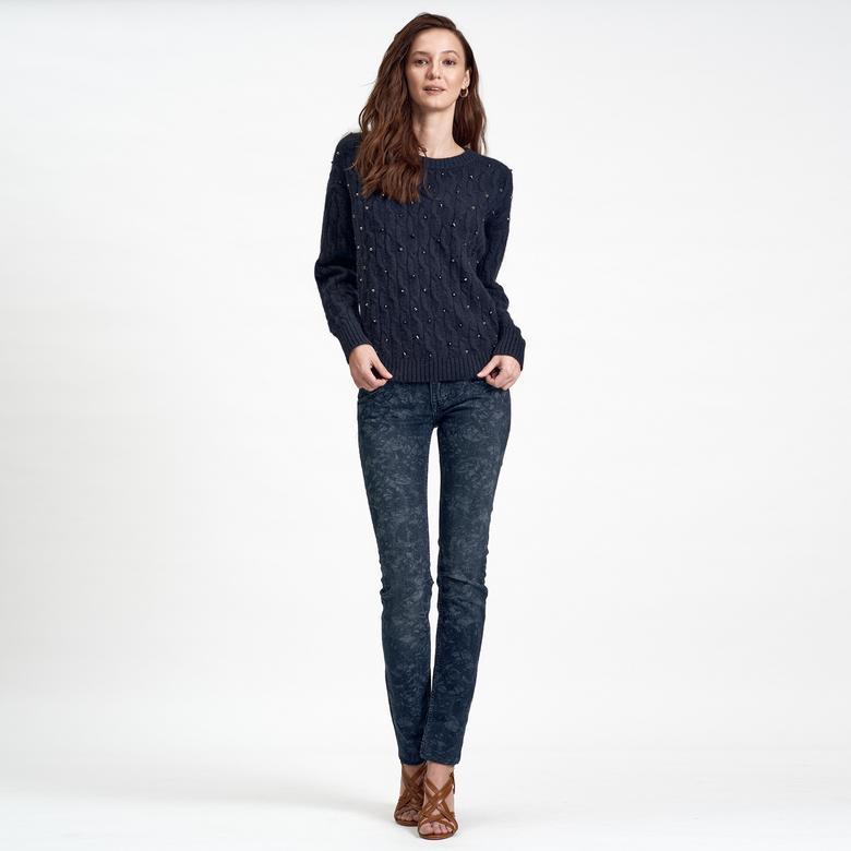 Lacivert DKNY Jeans Kadın Yün Kazak 2300006843001