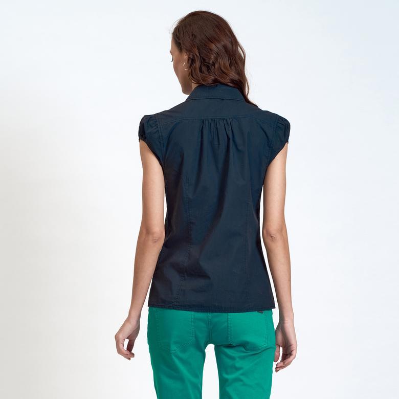DKNY Jeans Büzgü Detaylı Kadın Gömlek 2300002301005