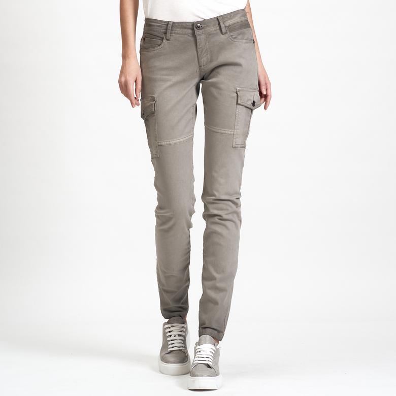 Gri DKNY Jeans Kadın Kargo Pantolon 2300006568005