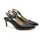 Rosa Zincir Detaylı Kadın Deri Klasik Ayakkabı 2010047244002